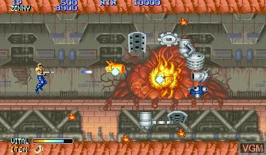 Image in-game du jeu Forgotten Worlds sur Capcom CPS-I