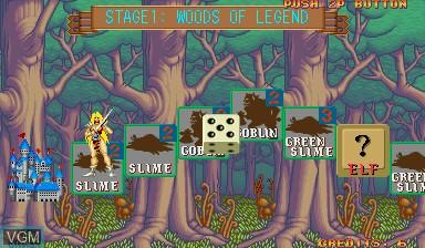 Image in-game du jeu Quiz & Dragons sur Capcom CPS-I