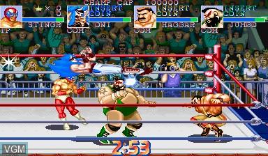 Image in-game du jeu Saturday Night Slam Masters sur Capcom CPS-I