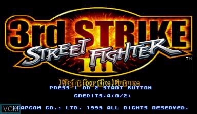 Image de l'ecran titre du jeu Street Fighter III - 3rd Strike sur Capcom CPS-III