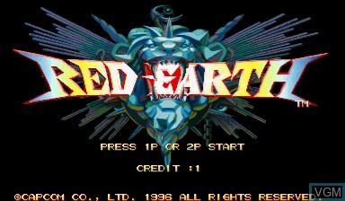 Image de l'ecran titre du jeu Warzard sur Capcom CPS-III