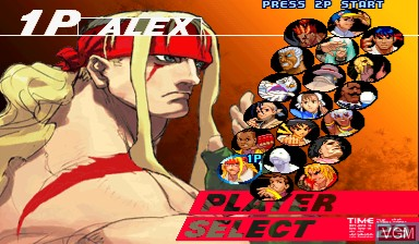 Image du menu du jeu Street Fighter III - 3rd Strike sur Capcom CPS-III