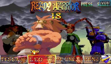 Image du menu du jeu Warzard sur Capcom CPS-III