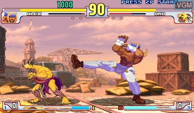 Image in-game du jeu Street Fighter III - 3rd Strike sur Capcom CPS-III