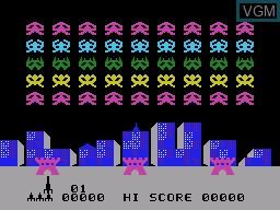 Image de l'ecran titre du jeu Sonic Invader sur VTech Creativision