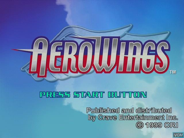 Image de l'ecran titre du jeu AeroWings sur Sega Dreamcast