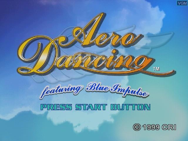 Image de l'ecran titre du jeu Aero Dancing - Featuring Blue Impulse sur Sega Dreamcast
