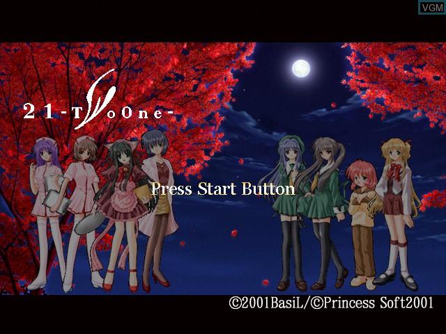 Image de l'ecran titre du jeu 21 - Two One sur Sega Dreamcast