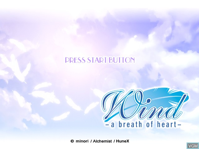 Image de l'ecran titre du jeu Wind - A Breath of Heart sur Sega Dreamcast
