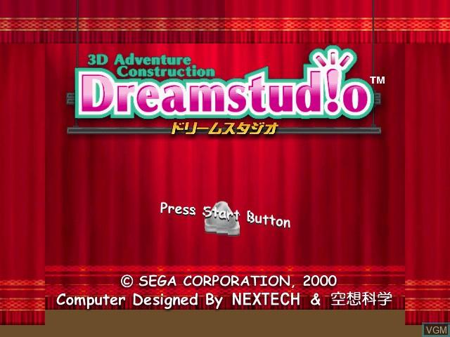 Image de l'ecran titre du jeu Dream Studio sur Sega Dreamcast