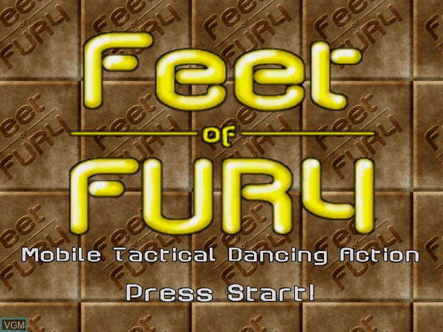 Image de l'ecran titre du jeu Feet of Fury sur Sega Dreamcast