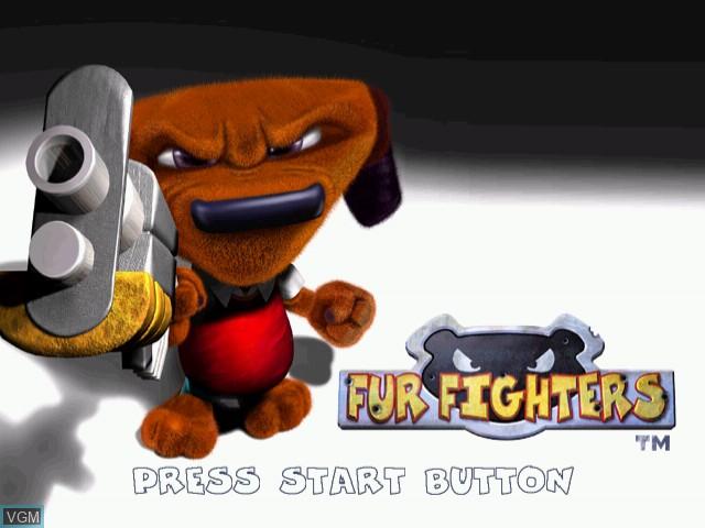 Image de l'ecran titre du jeu Fur Fighters sur Sega Dreamcast