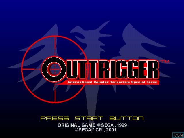 Image de l'ecran titre du jeu OutTrigger - International Counter Terrorism Special Force sur Sega Dreamcast