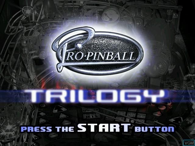 Image de l'ecran titre du jeu Pro Pinball Trilogy sur Sega Dreamcast