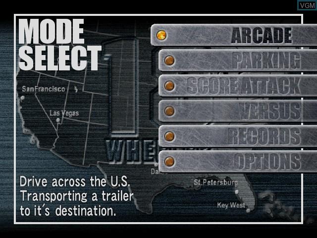 Image du menu du jeu 18 Wheeler - American Pro Trucker sur Sega Dreamcast