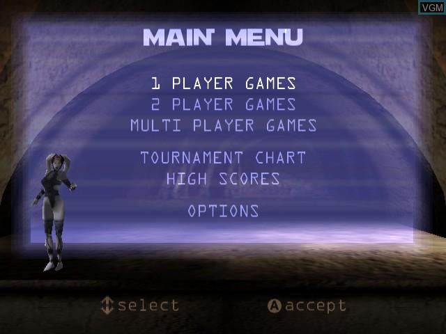 Image du menu du jeu Star Wars - Demolition sur Sega Dreamcast