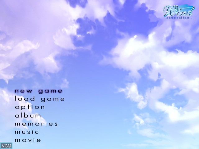 Image du menu du jeu Wind - A Breath of Heart sur Sega Dreamcast