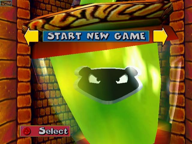 Image du menu du jeu Fur Fighters sur Sega Dreamcast
