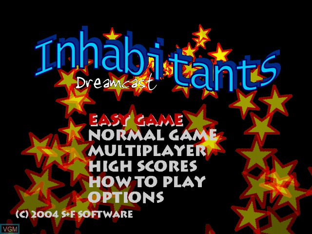 Image du menu du jeu Inhabitants sur Sega Dreamcast