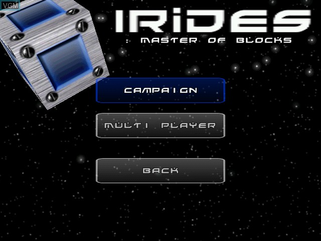 Image du menu du jeu Irides - Master of Blocks sur Sega Dreamcast