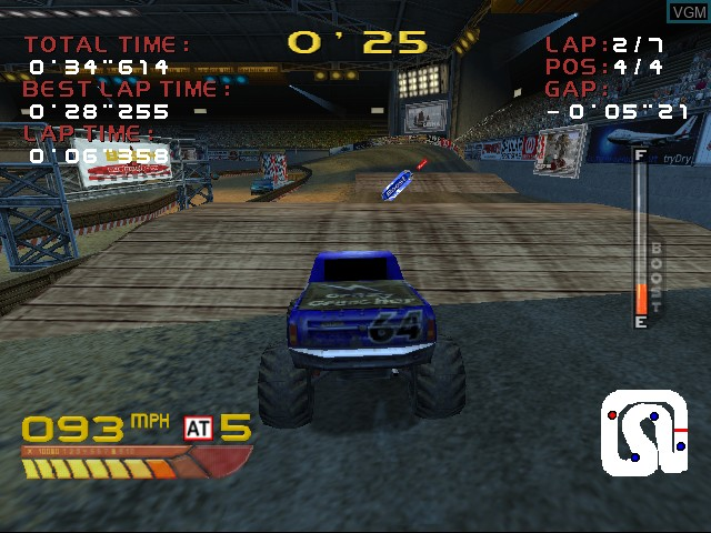 Image in-game du jeu 4 Wheel Thunder sur Sega Dreamcast