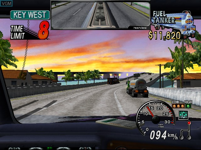 Image in-game du jeu 18 Wheeler - American Pro Trucker sur Sega Dreamcast