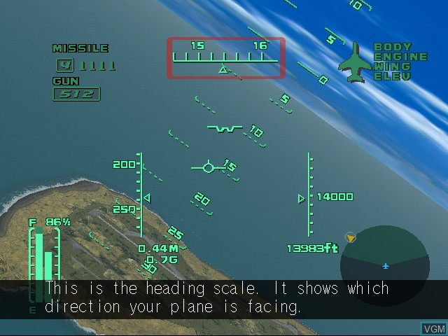 Image in-game du jeu AeroWings 2 - Airstrike sur Sega Dreamcast