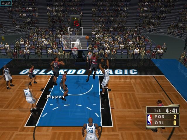 Image in-game du jeu NBA 2K2 sur Sega Dreamcast