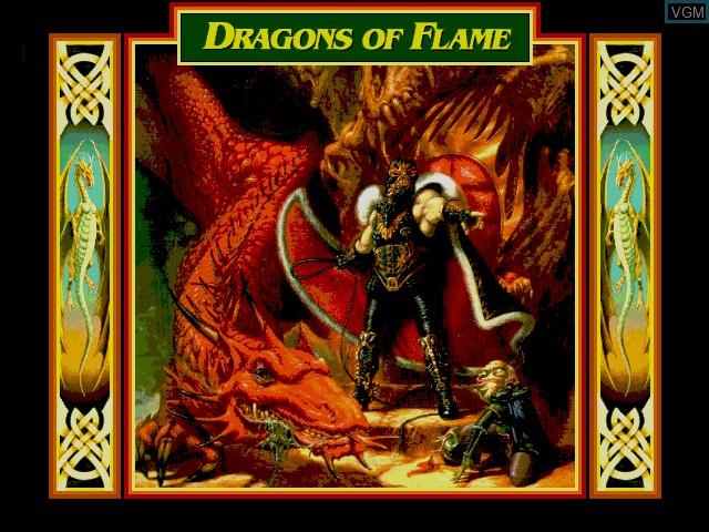 Image de l'ecran titre du jeu Dragons of Flame sur Fujitsu FM Towns