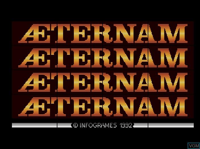 Image de l'ecran titre du jeu Aeternam sur Fujitsu FM Towns