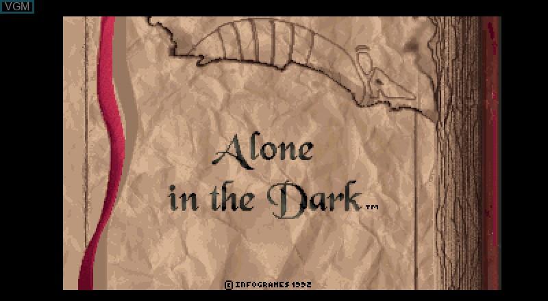 Image de l'ecran titre du jeu Alone in the Dark sur Fujitsu FM Towns