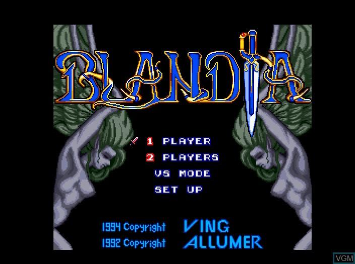 Image de l'ecran titre du jeu Blandia Plus sur Fujitsu FM Towns