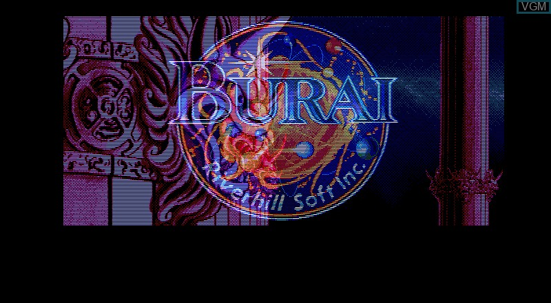 Image de l'ecran titre du jeu Burai - Gekan Kanketsuhen sur Fujitsu FM Towns