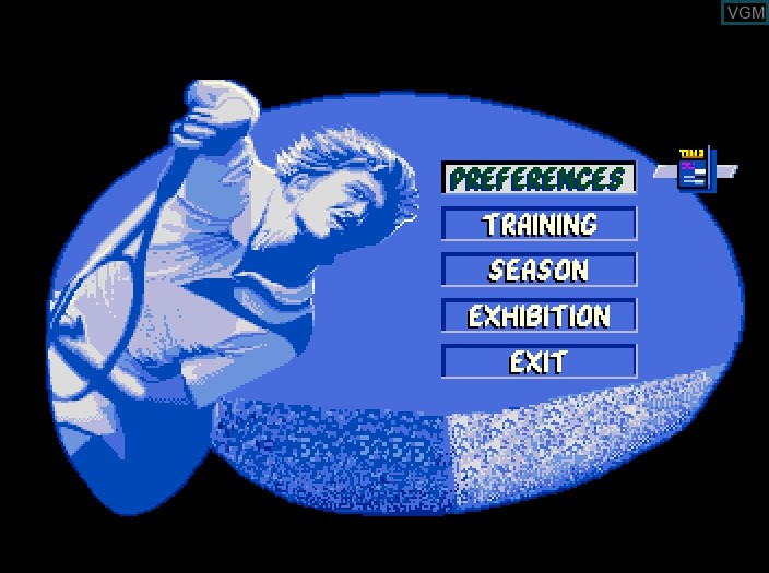 Image du menu du jeu Advantage Tennis sur Fujitsu FM Towns