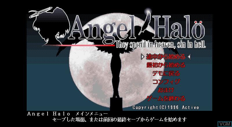 Image du menu du jeu Angel sur Fujitsu FM Towns