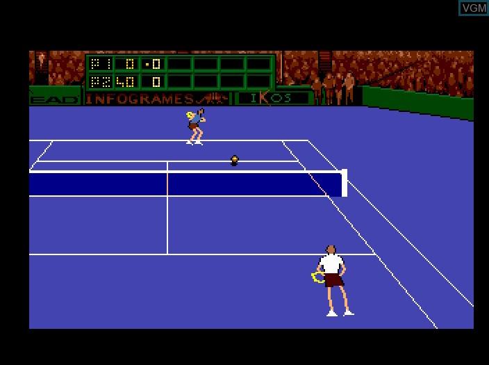 Image in-game du jeu Advantage Tennis sur Fujitsu FM Towns