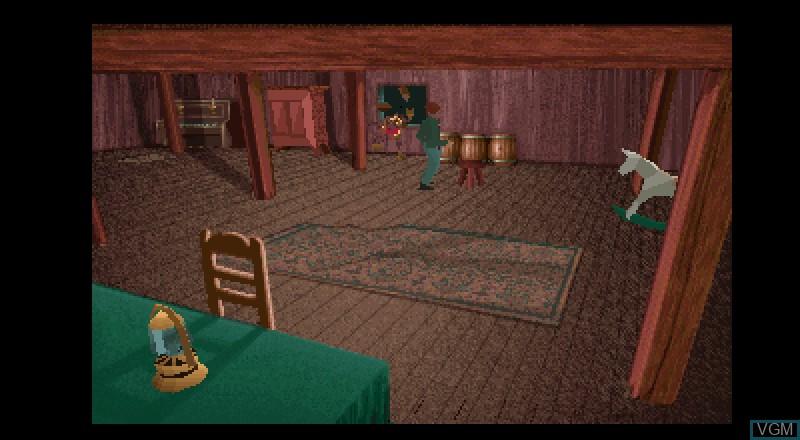 Image in-game du jeu Alone in the Dark sur Fujitsu FM Towns