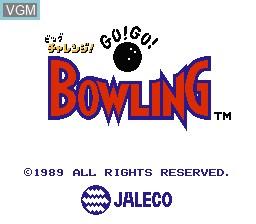 Image de l'ecran titre du jeu Big Challenge! Go! Go! Bowling sur Nintendo Famicom Disk