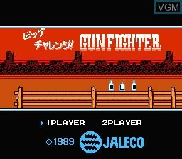 Image de l'ecran titre du jeu Big Challenge! Gun Fighter sur Nintendo Famicom Disk