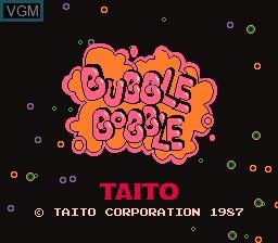 Image de l'ecran titre du jeu Bubble Bobble sur Nintendo Famicom Disk