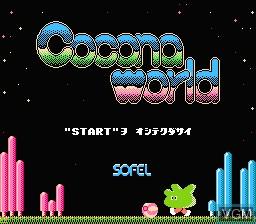 Image de l'ecran titre du jeu Cocona World sur Nintendo Famicom Disk