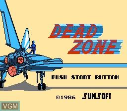 Image de l'ecran titre du jeu Dead Zone sur Nintendo Famicom Disk