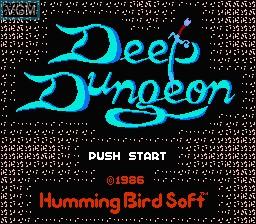 Image de l'ecran titre du jeu Deep Dungeon sur Nintendo Famicom Disk