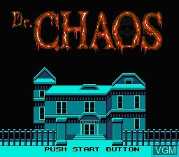 Image de l'ecran titre du jeu Dr. Chaos sur Nintendo Famicom Disk