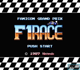 Image de l'ecran titre du jeu Famicom Grand Prix - F1 Race sur Nintendo Famicom Disk