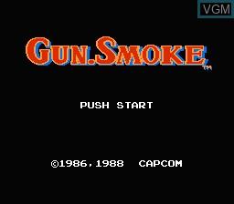 Image de l'ecran titre du jeu Gun.Smoke sur Nintendo Famicom Disk