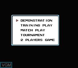 Image du menu du jeu Backgammon sur Nintendo Famicom Disk