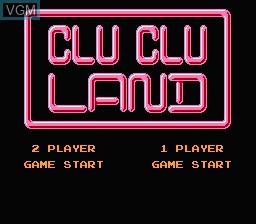 Image du menu du jeu Clu Clu Land - Welcome to New Cluclu Land sur Nintendo Famicom Disk