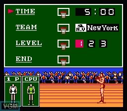 Image du menu du jeu Exciting Basket sur Nintendo Famicom Disk