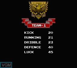 Image du menu du jeu Exciting Soccer - Konami Cup sur Nintendo Famicom Disk